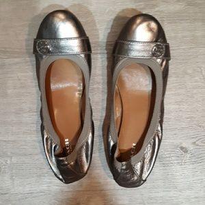 Coach logo Ballet Flats size 39 platinum